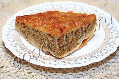 перевёрнутый яблочно-миндальный пирог