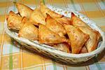 пирожки с семгой, творогом и сыром