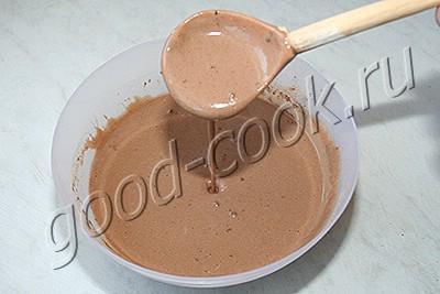 шоколадные блины с орехами