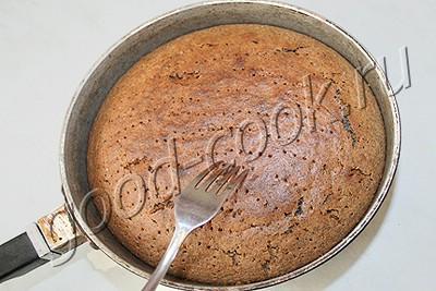 маковый пирог с карамельной заливкой