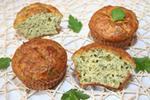 кабачковые кексы с чесноком и укропом
