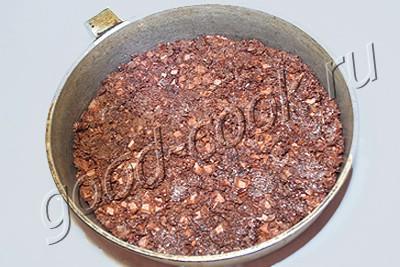 творожный торт-суфле с персиками на вафельной основе