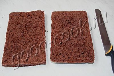 шоколадный торт со сливочно-вишнёвым кремом