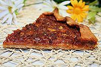 полуржаной постный пирог с кабачками