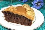шоколадный пирог с карамелью из конфет Коровка