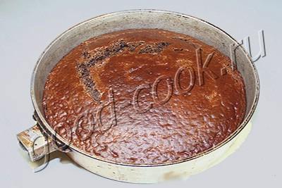 """шоколадный пирог с карамелью из конфет """"Коровка"""""""