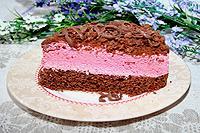 """шоколадно-вишнёвыйый торт """"Розовая заря"""""""