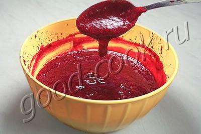 """шоколадно-вишнёвый торт """"Розовая заря"""""""