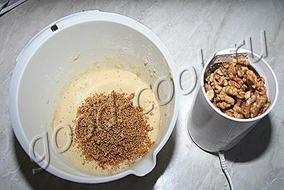 блины с молотыми орехами