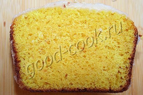 лимонный кекс на сгущенном молоке
