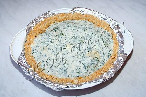 пирог с цветной капустой на галетной основе