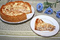 пирог с курицей на галетной основе