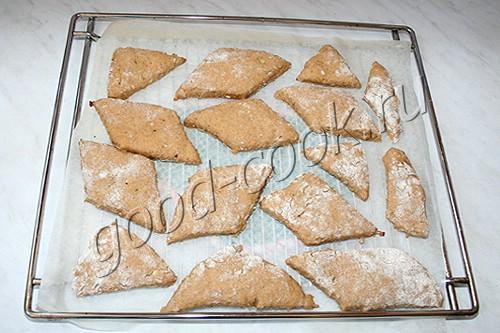 полуржаные хлебцы на твороге