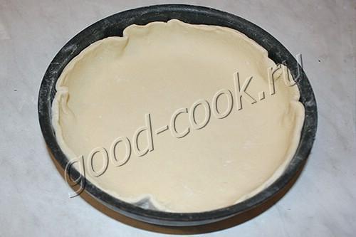 открытый слоеный пирог с курицей