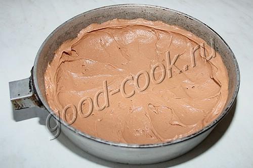 творожно-лимонный пирог на шоколадном тесте