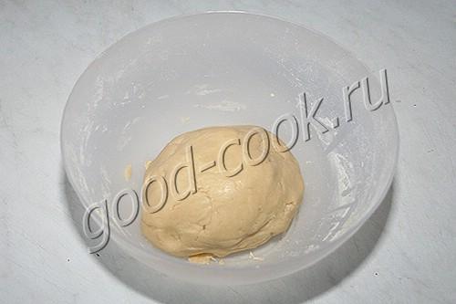 песочный пирог с начинкой из кураги