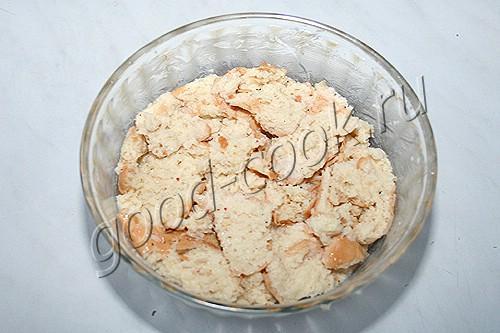 хлебный пудинг с грибами