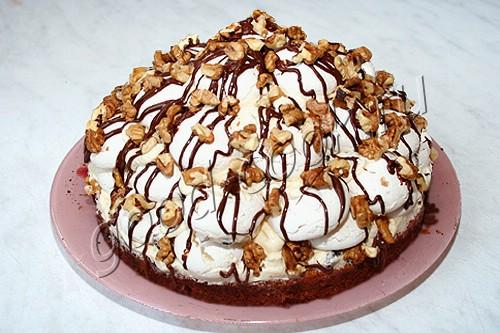 Торт графские развалины классический рецепт с безе с пошагово в