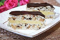 """торт """"Воздушный"""" с орехами и шоколадом"""