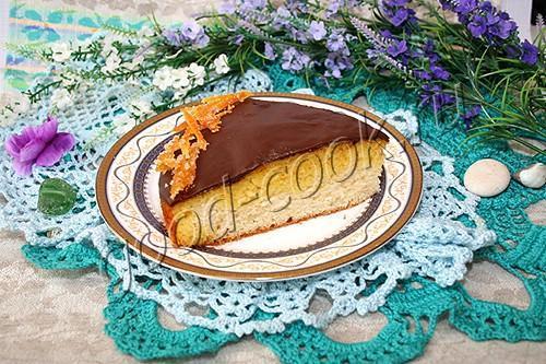 апельсиновый пирог с шоколадной глазурью