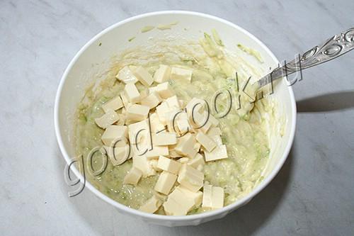 кабачковые кексы с плавленым сыром