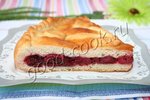 пирог из вишни замороженной рецепт с фото