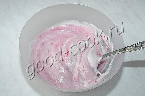 рассыпчатый пирог с малиной