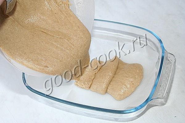 полуржаной пряничный пирог