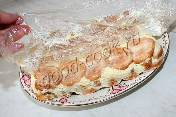 """торт из слоеных печений """"Ушки"""""""