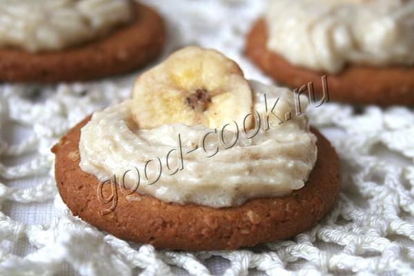 банановый крем со сгущенным молоком