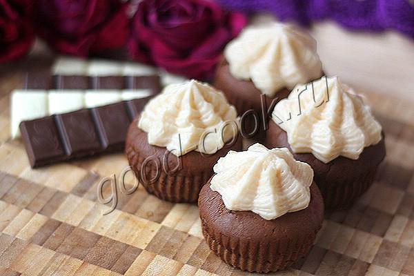 шоколадные капкейки с цитрусовым кремом