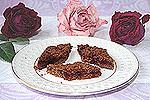 постный рассыпчатый пирог с вишней