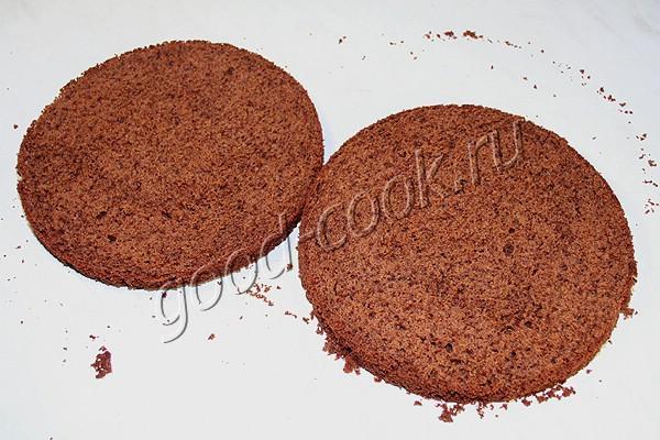шоколадный торт с вишней и шоколадным кремом