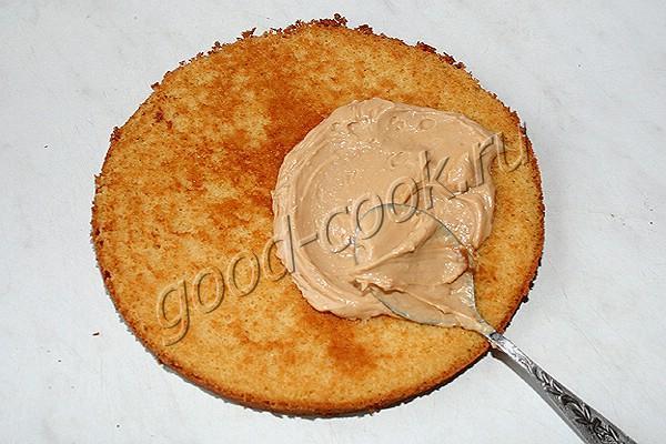 пышный медовый торт с зефиром и творожным кремом