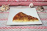 перевернутый кабачковый пирог в сковороде