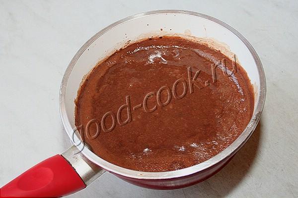 пирог с шоколадной заливкой