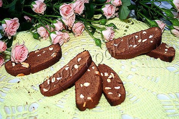 шоколадные сухарики (бискотти)