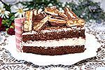 шоколадный торт с творожным кремом