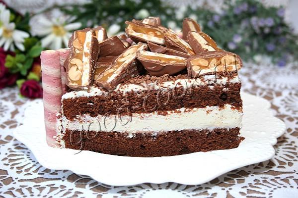 рецепт шоколадного торта с творожным кремом