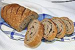 ржано-пшеничный хлеб с беконом и зелёным луком