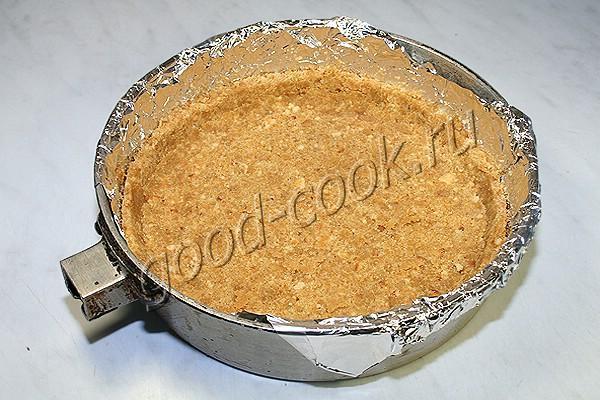 лимонный пирог с безе на основе из печенья