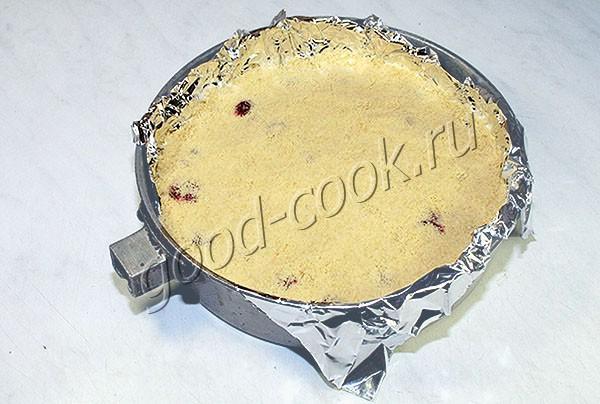 рассыпчатый пирог с вишней