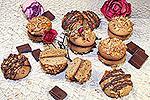 кофейное печенье с орехами и шоколадом