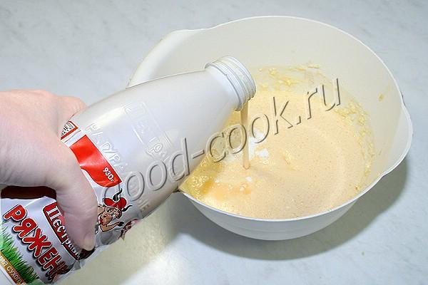 кекс с изюмом (на ряженке)