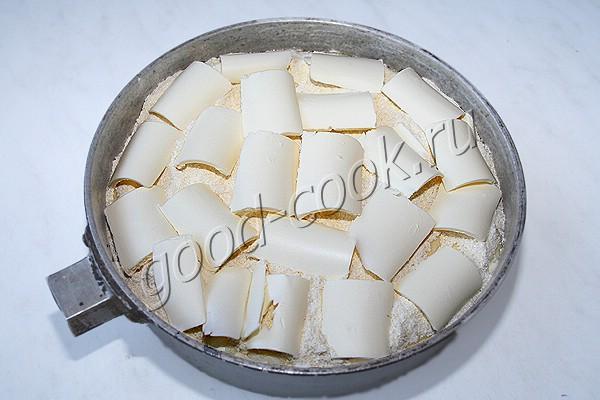насыпной пирог с творогом