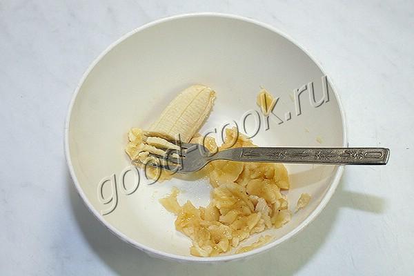 овсяные оладьи с бананом