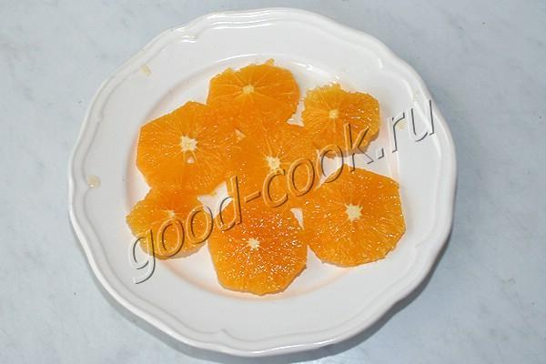 постный апельсиновый манник