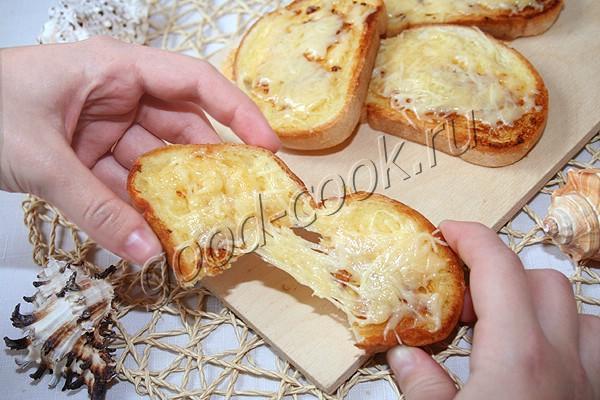 гренки с чесноком и сыром