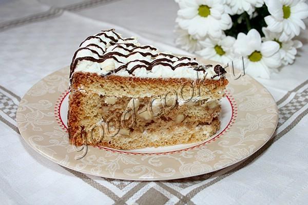 "торт ""Корзинка с бананами"""