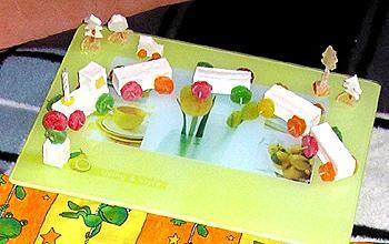 детский десерт Паровоз
